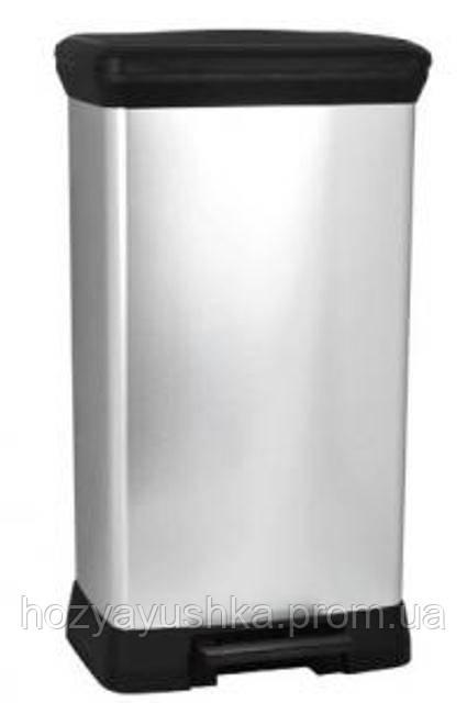 Контейнер для мусора металлизированный Curver Deco 50 л.