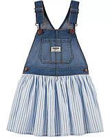 Модный джинсовый сарафан с пышной юбкой для девочки