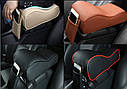 Підлокітник для салону автомобіля ZIRY штучна шкіра, чорний/карбон, фото 5