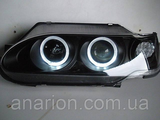Передние фары на ВАЗ 2115 Ангельские глазки (черные)