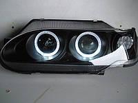 Передние фары на ВАЗ 2115 Ангельские глазки (черные), фото 1