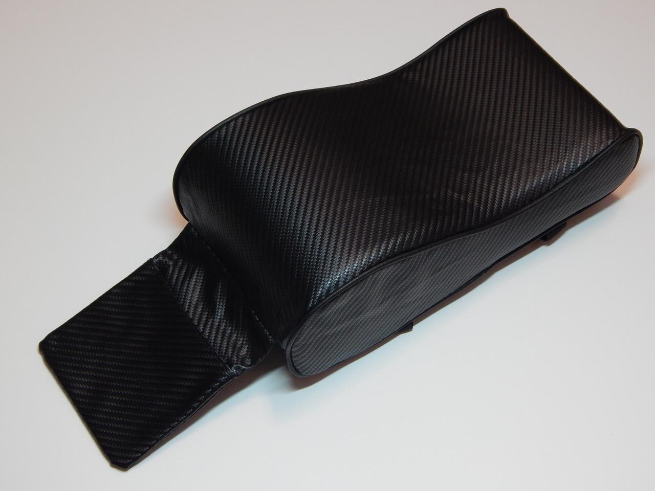 Підлокітник для салону автомобіля ZIRY штучна шкіра, чорний/карбон