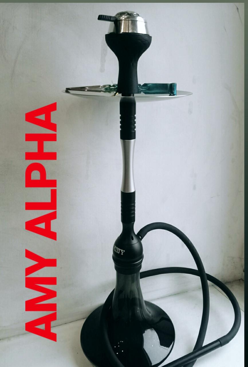 Кальян AMY.   Alpha Hookah   комплекте Калауд рифленый  и чаша сликоновая шланг софт тач