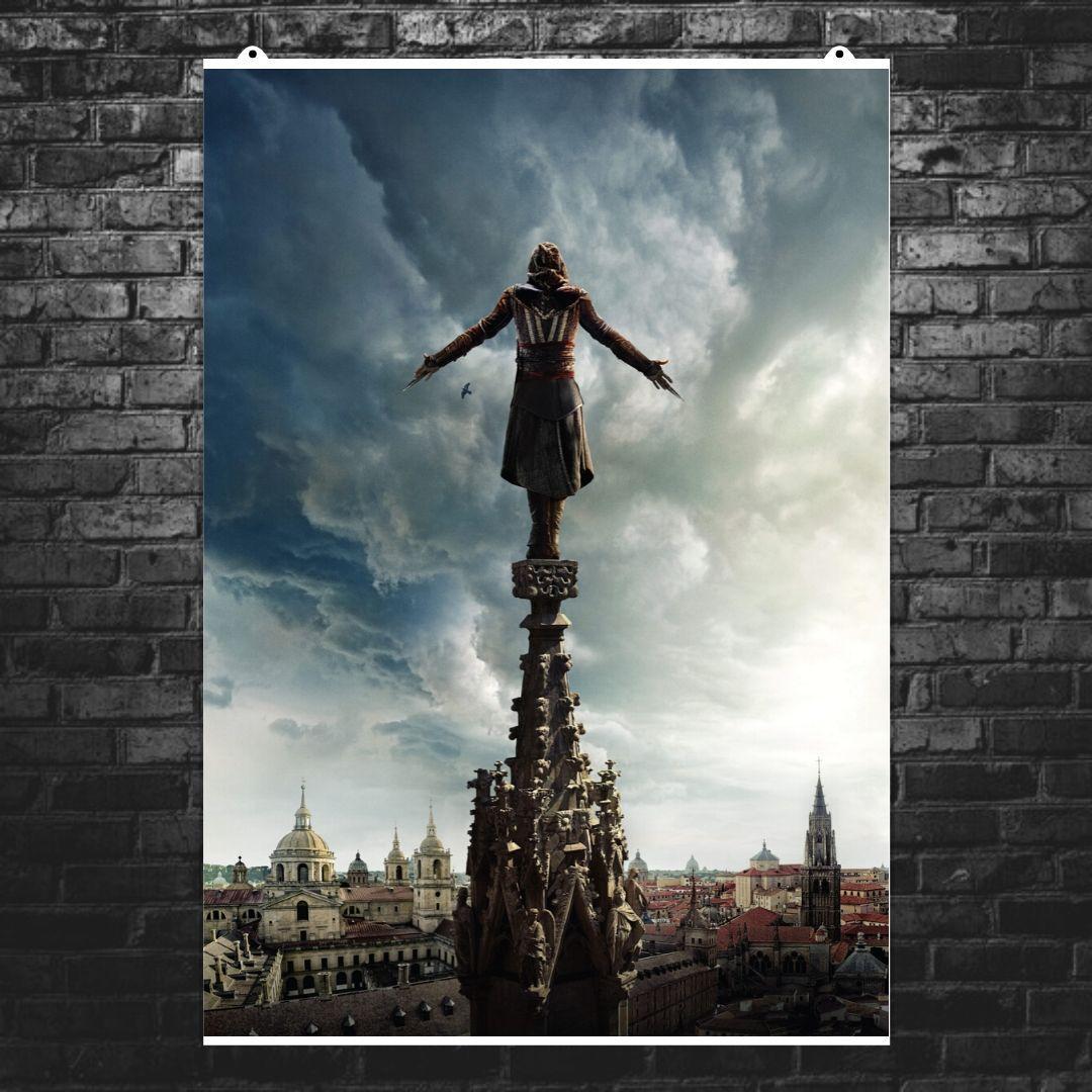"Постер ""Assassins Creed. Прыжок веры"". Кредо Асассина. Размер 60x42см (A2). Глянцевая бумага"