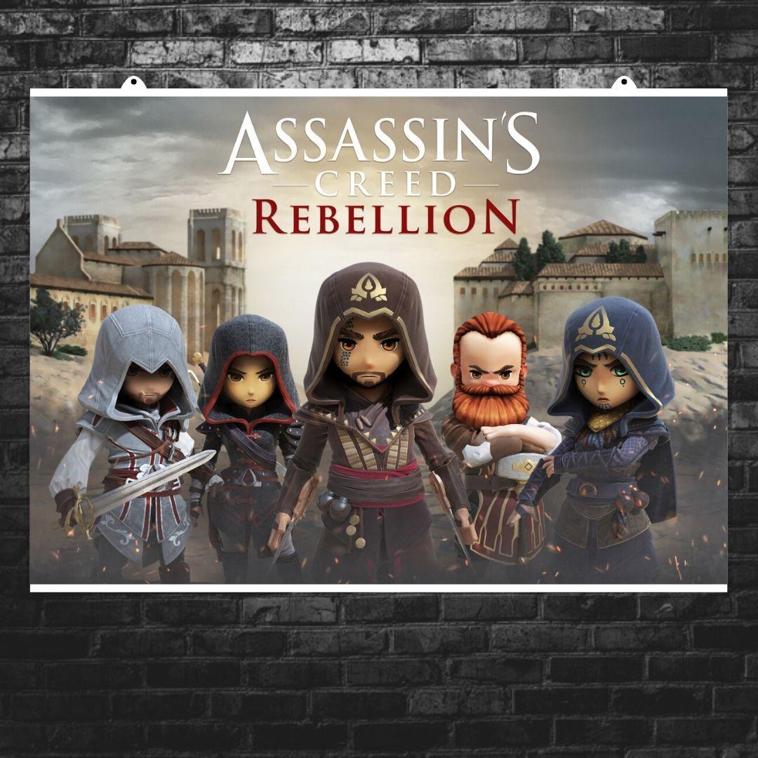 """Постер """"Assassins Creed: Rebellion"""". Размер 60x42см (A2). Глянцевая бумага"""