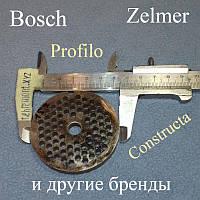 Сито (решётка) №8 для мясорубки Zelmer, (D=62мм, d центра=9мм, d отв=4мм) 86.3161 / 755474