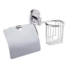 Держатель для туалетной бумаги с крышечкой и освежителя Potato P2903-1 POTP29031