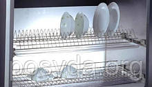Сушка для посуды в шкаф 600мм с алюм. рамой