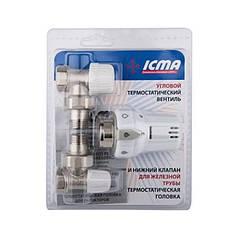 Прямой термокомплект для радиатора 1/2 Icma № KTE  986 +775 +815 KTE986775815AD