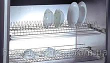Сушка для посуды в шкаф 400мм с алюм. рамой