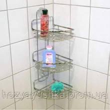 Полка для ванной комнаты 3-ярусная угловая