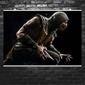 """Постер """"Mortal Kombat. Scorpion"""". Скорпион, Мортал Комбат. Размер 60x42см (A2). Глянцевая бумага"""