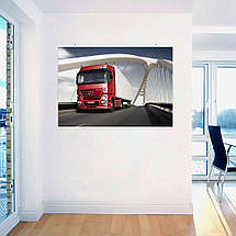 "Постер ""Грузовик красный Mercedes Benz"". Размер 60x43см (A2). Глянцевая бумага, фото 3"