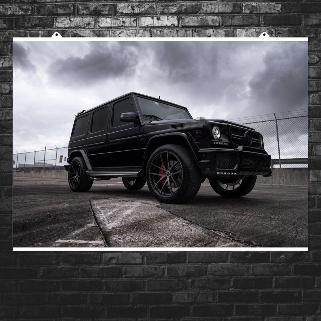 "Постер ""Mercedes-Benz Gelandewagen"". Плакат №2. G-Wagen, Гелендваген, Гелик. Размер 60x43см (A2). Глянцевая бумага"