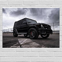 "Постер ""Mercedes-Benz Gelandewagen"". Плакат №2. G-Wagen, Гелендваген, Гелик. Размер 60x43см (A2). Глянцевая бумага, фото 2"