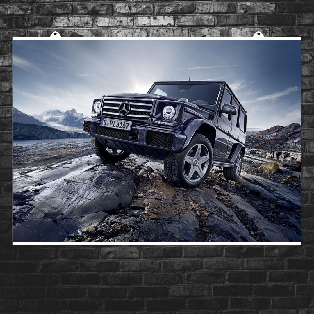 "Постер ""Mercedes-Benz Gelandewagen"". Плакат №6. G-Wagen, Гелендваген, Гелик. Размер 60x43см (A2). Глянцевая бумага"