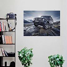 "Постер ""Mercedes-Benz Gelandewagen"". Плакат №6. G-Wagen, Гелендваген, Гелик. Размер 60x43см (A2). Глянцевая бумага, фото 2"