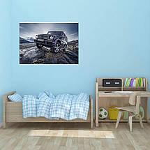 "Постер ""Mercedes-Benz Gelandewagen"". Плакат №6. G-Wagen, Гелендваген, Гелик. Размер 60x43см (A2). Глянцевая бумага, фото 3"