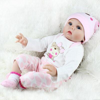 Лялька Reborn Baby 55 см рожева