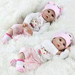 Кукла Reborn Baby 55 см розовая, фото 3