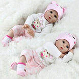 Лялька Reborn Baby 55 см рожева, фото 3