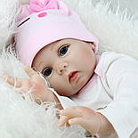 Лялька Reborn Baby 55 см рожева, фото 4