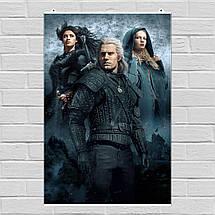 "Постер ""Ведьмак, Witcher"", плакат по сериалу №2. Размер 60x41см (A2). Глянцевая бумага, фото 2"