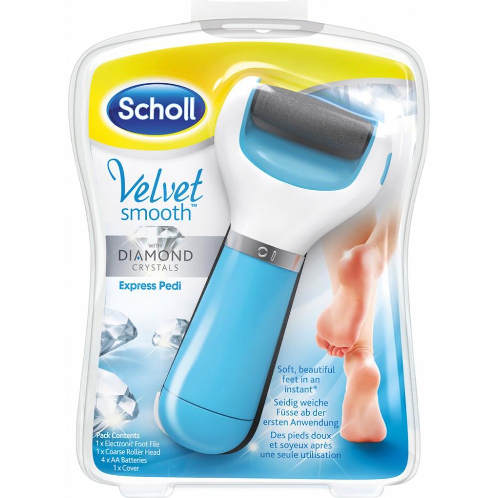 Электрическая роликовая пилка для ног и стоп Sholl, Электрическая пемза для педикюра с роликом