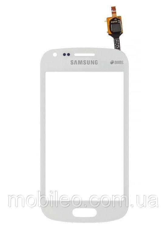 Сенсорный экран (тачскрин) Samsung S7582 Galaxy Trend Plus Duos | S7580 белый оригинал