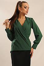 Женская однотонная блуза на запах (Жанин ri), фото 2