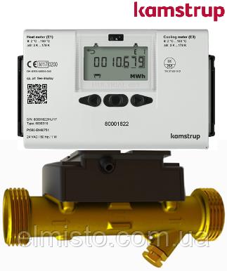 Ультразвуковой интеллектуальный теплосчетчик MULTICAL 603 DN20 G1B x 130 mm, резьба, Qp 0,6м3/ч (Камструп)