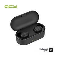 НаушникиQCY T1Xбеспроводные Black Bluetooth наушники вкладыши с функцией беспроводной зарядки, фото 1
