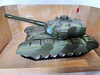 Танк игрушечный на батарейках.Детская машинка танк на батарейках.Военный танк на батарейках.