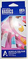 Фарби акрилові 12кол 6мл у тюбику Basics (12)