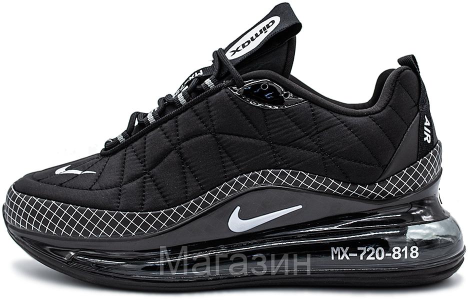 Мужские кроссовки Nike Air Max MX 720-818 Black Найк Аир Макс 720-817 черные