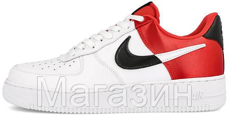 Мужские кроссовки Nike Air Force 1 '07 LV8 NBA White/ Red Найк Аир Форс белые с красным, фото 2