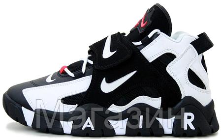 Мужские кроссовки Nike Air Barrage Mid Black/White Найк черные, фото 2