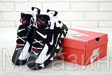 Мужские кроссовки Nike Air Barrage Mid Black/White Найк черные, фото 3