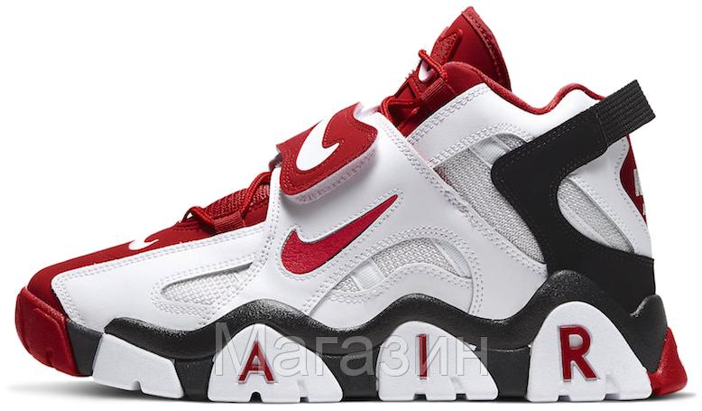 Мужские кроссовки Nike Air Barrage Mid White/Red Найк черные
