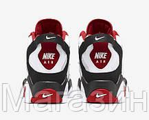 Мужские кроссовки Nike Air Barrage Mid White/Red Найк черные, фото 3