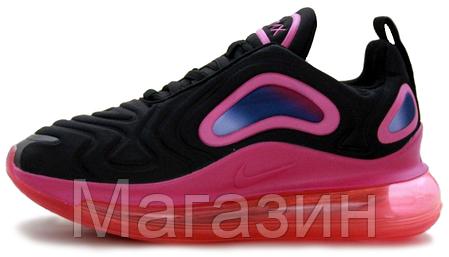 Женские кроссовки Nike Air Max 720 Black/Pink (Найк Аир Макс 720) черные с розовым, фото 2