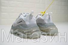 Мужские кроссовки Balenciaga Triple S Clear Sole White Баленсиага Трипл С белые, фото 3