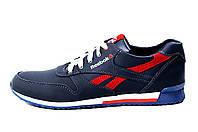 Мужские кожаные кроссовки Anser Reebok New Line dark blue red (реплика), фото 1