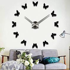 Часы наклейки, diy clock, очень красивые, бабочки, розовые