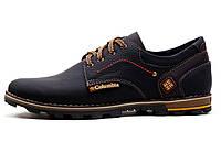 Мужские кожаные кроссовки Columbia flotar (реплика), фото 1