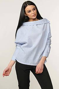 Женская свободная блузка без застежки больших размеров (Акура ri)