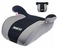 Автокресло кресло бустер детское SPARCO F100K 15-36 кг серо-черное универсальное автомобильное