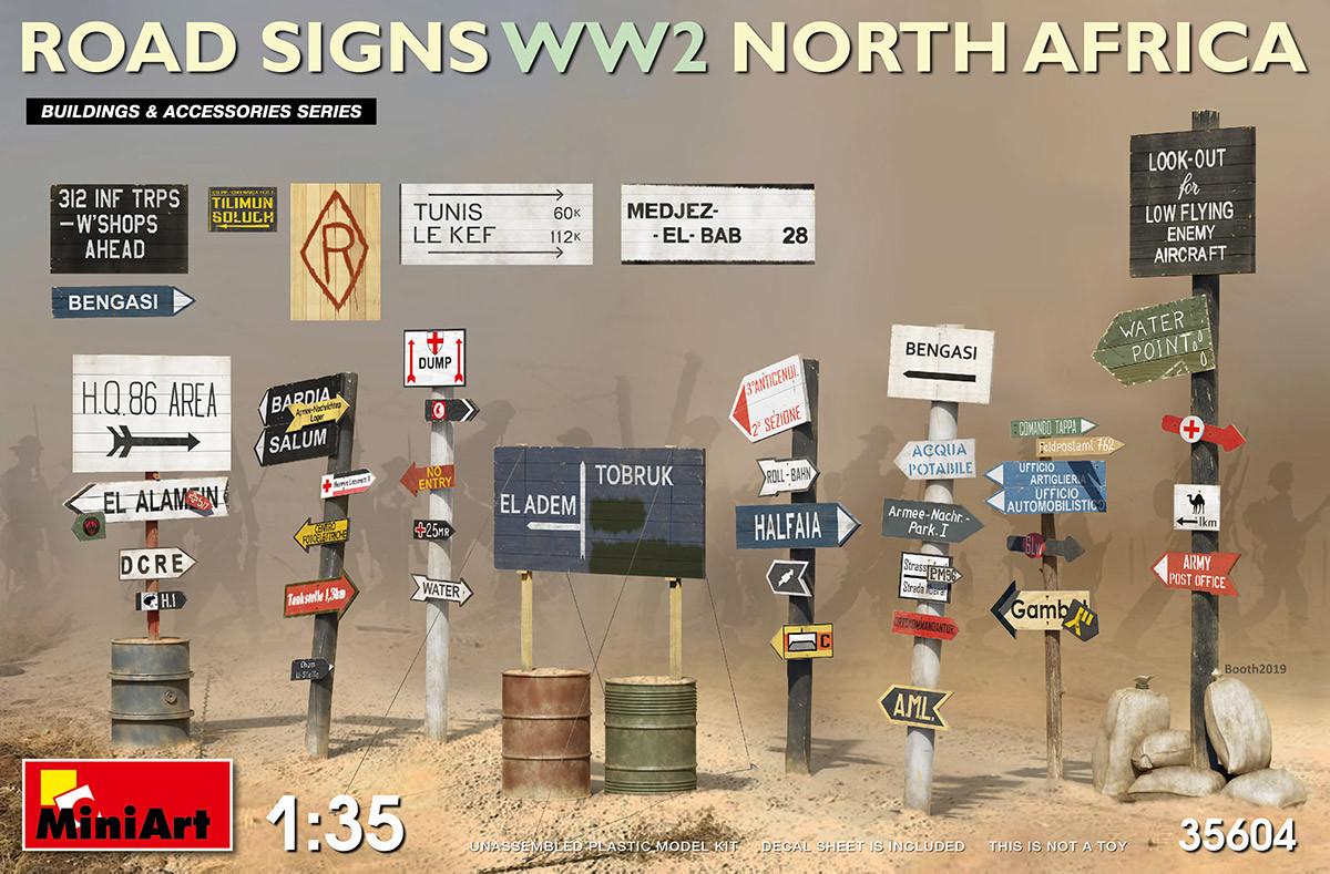 Дорожные знаки II Мировой Войны. Северная Африка. 1/35 MINIART 35604
