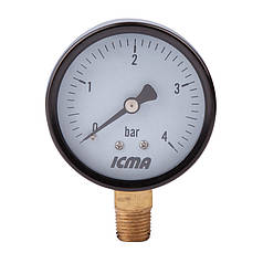 "Манометр нижнего.подключ.1/4   0- 4 бар ""Icma"" №244 91244AB04"