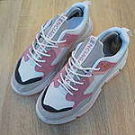 Женские кроссовки Balenciaga Triple S V2 (бело-розовые), фото 4